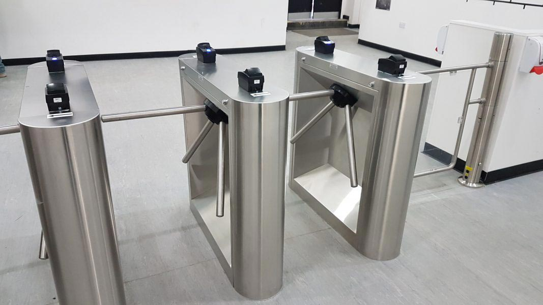 construction building site turnstile