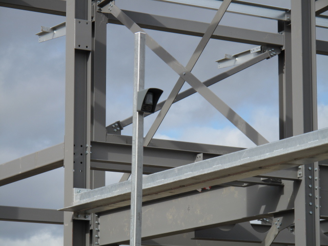 building site cctv, wireless cctv, wireless alarm, scaffold alarm, compound security