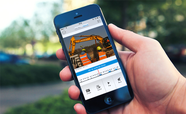 monitoring construction security over the mobile phone