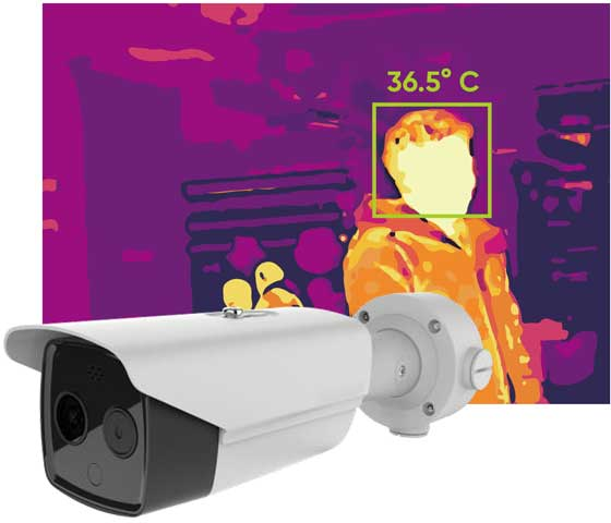 installation of body temperature screening camera in London
