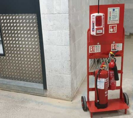 temporary fire points installed on the movable trolley