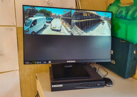 Temporary Camera System installed inside construction cabin