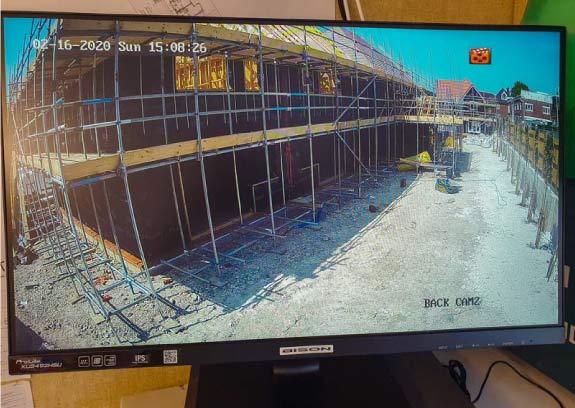 Temporary CCTV camera monitoring on site